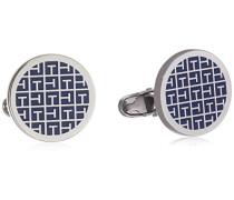 Jewelry Herren-Manschettenknöpfe Edelstahl Emaille blau - 2700778