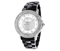 Damen-Armbanduhr Analog Quarz Premium Keramik Diamanten - STM13G410
