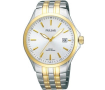 Uhren Damen-Armbanduhr Klassik Analog Quarz Edelstahl beschichtet PS9084X1