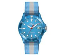 s.Oliver Herren-Armbanduhr XL Analog Quarz Textil SO-2690-LQ