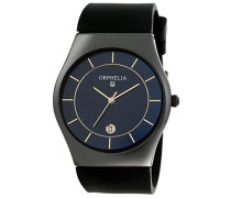 Orphelia Herren-Armbanduhr   Herrenuhr   Quarz-Uhrwerk   Analog Uhr mit Silikon-Armband in schwarz