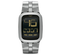 Swatch Quarzuhr Unisex Silver Bump  39 mm