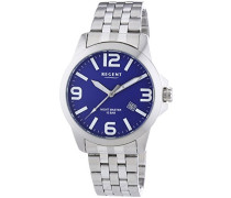 Regent Herren-Armbanduhr XL Analog Quarz Edelstahl 11150557