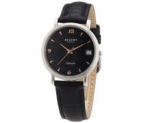 Regent Damen-Armbanduhr XS Analog Quarz Leder 12111078