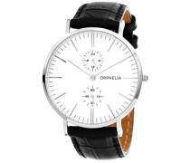 Herren-Armbanduhr Analog Quarz Leder 71501