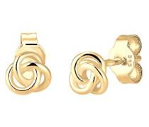 Premium Ohrringe Trend Knoten Hochwertig Filigran 585 Gelbgold 0308971516