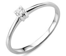 Miore 18 Karat (750) Weigold 52 (16.6) Damenring, mit 1 (0,07 cts) Diamant M0599WM