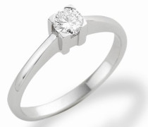 MC003WBR 18 Karat (750) Weißgold Solitär Ringe mit IGI Zertifikat für Brillant 0,25 Ct - Größe 58