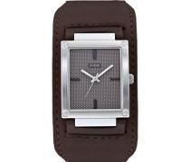 –W0359G1–Herren-ArmbanduhrQuarz, graues Ziffernblatt, Analog, braunes Leder-Armband