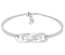 Damen-Armband Infinity 925 Silber Swarovski Kristalle weiß Facettenschliff 16 cm 0202280217_16