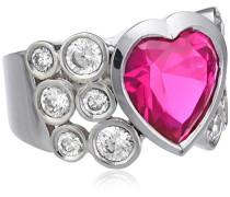 Damen-Ring 925 Sterling Silber Zirkonia pink