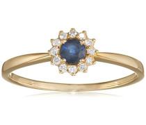 Ring 9 Karat (375) Gelbgold Saphir badm 07040-0001