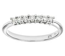 Damen-Ring 375 Weißgold 9 K Diamant PR03643W-T