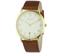 Herren-Armbanduhr XL Analog Leder 11100224