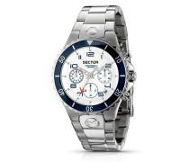 Sector Damen-Armbanduhr 175 Chronograph Edelstahl silber R3273611045