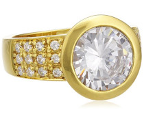 Damen-Ring 925 Sterling Silber vergoldet Zirkonia weiß W: 56 273270752-1-056