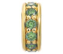 Damen-Charm JLo Emerald Dreamy Dot 925 Silber teilvergoldet Zirkonia grün - 1600-3