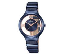 Damen-Armbanduhr Analog Quarz Leder 18339/1