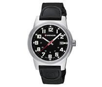 WENGER Herren-Armbanduhr Analog Quarz Leder 01.0441.137