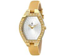 Armbanduhr für Damen mit Analog Anzeige, Quarz-Uhr und Lederarmband - Wasserdichte Damenuhr mit zeitlosem, schickem Design - klassische, elegante Uhr für Frauen - BM801-289 Arvada