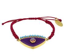 vergoldet violett 925Silber Armband Makramee Evil Eye von 14–29cm
