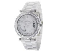 Damen-Armbanduhr Analog Quarz Premium Keramik Diamanten - STM13H401