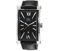 Cerruti 1881 Herren-Armbanduhr LUCCA Analog Quarz Leder CRB042STB02BK