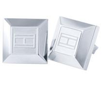 Damen-Ohrklemme 925 Silber Emaille 1 cm-2700645