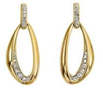 Damen-Ohrringe Edelstahl Zirkonia D31121DZ-gold