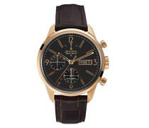 Herren-Armbanduhr Chronograph Automatik Leder 64C106
