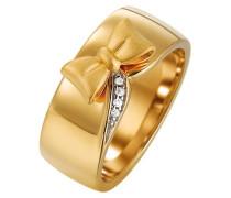 Damen-Ring 925 Sterling Silber rhodiniert Kristall Zirkonia Papillon weiß