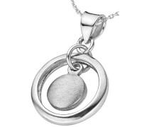 Damen Halskette 925 Sterling Silber Silber