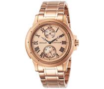 –es-8007–44–Ashton–Zeigt Herren–Automatische Analog–Ziffernblatt Gold Armband Stahl vergoldet Gold