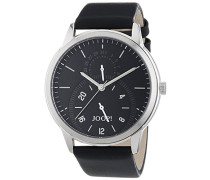 Herren-Armbanduhr XL Analog Quarz Leder JP101401002
