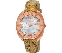 Damen-Armbanduhr Levant Grande Analog Quarz Leder