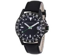 Herren-Armbanduhr XL DUB Analog Quarz Leder Y8032W/20/00