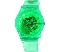 Swatch Unisex-Armbanduhr Islands Galore Limade Analog Quarz Plastik GG216
