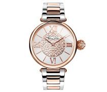 Damen-Armbanduhr Karma Rosegold Silber Analog Quarz
