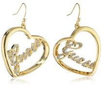 Guess Damen-Ohrhänger Metall mit Herz UBE21202