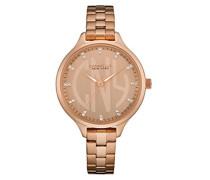 Caravelle New York Damen-Armbanduhr DRESS Analog Quarz Edelstahl beschichtet 44L207