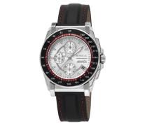Herren-Armbanduhr XL Chronograph Leder TW0790