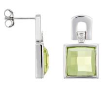 Damen-Ohrstecker 925 Sterling Silber Peridot grn ZO-5993
