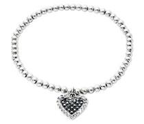 Damen-Armband Herz Swarovski Kristalle Messing rhodiniert Kristall mehrfarbig 17 cm - 2015375