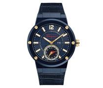 Salvatore Ferragamo F-80 Motion Herren Smartwatch verbunden mit blauem Zifferblatt und blauem Lederband FAZ010016