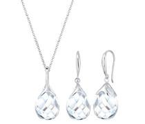 Damen-Schmuckset Halskette + Ohrringe Tropfen 925 Silber - 0902122117_60