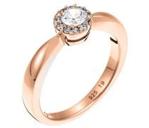 Damen-Ring 925 Sterling Silber rhodiniert Glas Zirkonia Lumière weiß Gr.57 (18.1) S.PCRG90380C180