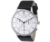 Herren-Armbanduhr XL Quarz Analog Leder 6562-5030Q-i2