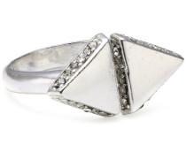 Jewelry Damen-Ring aus der Serie Jagged edge versilbert weiß 1.1 cm verstellbar Gr. 51-59 131316004