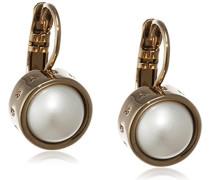 Dyrberg/Kern Damen-Ohrstecker Icons Lulu Sg Messing teilvergoldet Perle weiß Prinzess - 337115
