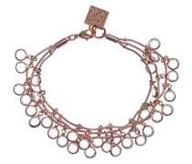 Shaky-Armband mit 3 Reihen mit 30 klaren Glaskristallen, 40 cm